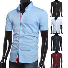 New Slim fit & stylish short sleeve shirt  Casual Shirts men shirts summer shirt