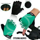 Cycling Gloves Half Finger Bicycle Fingerless Sports Bike Gel Padded XS to XL