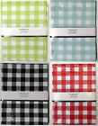 River Gingham Check Checked Easy Care Wipe Clean PVC Indoor Outdoor Tablecloth
