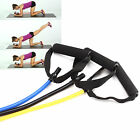 Tube Resistance Band Stretch Fitness Latex Elastic Workout Yoga Pilates Exercise