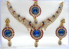 Bollywood Statement Gold Necklace Earring Set Indian Traditional Wedding Jewelry