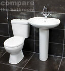 Bathroom/Cloakroom Suite Basin + Toilet Set  Soft Close Seat Lifetime Guarantee