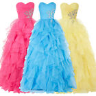 Summer Promotion Puffy Layered Prom Long Dresses Formal Bridal Evening Dresses