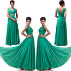 Sleeveless Beaded Evening Formal Bridesmaid Wedding Gown Prom Party Long Dresses