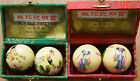 A Pair Of Hand Painted Baoding Iron Health Balls