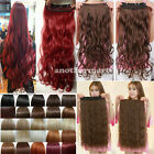 US First grade Clip In On real natural hair extensions Synthetic red white brown