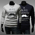 Men's Letters Patterns Slim Fit Crew Neck Leisure Casual Tee T-Shirt Tops XS~L