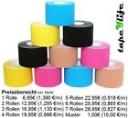Kinesiologie Tape 5cm x 5m 12 FARBEN Tapes Klebeband Tapeverband Sport NEU