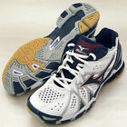 Mizuno Japan Men's WAVE TORNADE 9 Volleyball Shoes White Navy 2014 New
