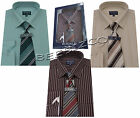 Yarn Dyed Boxed Shirt And Tie Set Office Formal Businessman Style By Tom Hagan