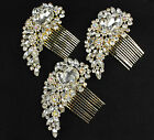 SILVER & GOLD DIAMANTE CRYSTAL GEM JOB LOT BULK HAIR COMB CLIP SLIDE FASCINATOR