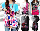 BOHO Womens Tunic Kaftan Loose Long Top Tee/Beach Bikini Cover Up AU SELLER T069