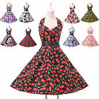 40% OFF Rockabilly 1950s Vintage Floral Gown Ball Short Skirts Party Tea Dress