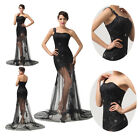New Dress Formal Long Evening Ballgown Party Prom Bridesmaid See Through Dresses
