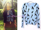 New Ladies Womens Horse Animal Print Blouse Sweater Top Shirt Jumper