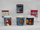 DISNEY MUGS CHOICE OF CHARACTER  POCOHONTAS LADY & TRAMP ARISTOCATS ETC UNBOXED