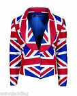 Designer Union Jack Ladies Jacket - all sizes made to order All Over Design