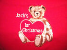 PERSONALISED CHRISTMAS BABY BIB  8 COLOURS 2 DESIGNS TEDDY BEAR   BNWT