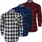 Brave Soul Mens Long Sleeve Check Lumberjack Brushed Cotton Casual Thick Shirt