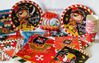 Pirate Theme Birthday Party Paper Tableware Decorations Plates Cups Tablecover