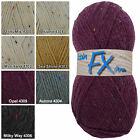 Robin FX Aran 25% wool / 75% acrylic flecked knitting wool yarn 400g