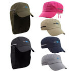 Outdoors Cycling Fishing Folding Hat Cap with Neck Flap Cover UV Sun Protection