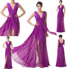 NEW V-Neck Long Pageant Formal Evening Party Clubwear Dress Bridesmaid Ball Gown