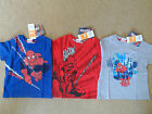 BOYS OFFICIAL MARVEL SPIDERMAN T-SHIRT 3 COLOURS TO CHOOSE AGE 4-10 YEARS BNWT