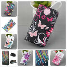 Fashion Watercolor Flip PU Leather Wallet Stand Case Cover For Samsung Phone S5