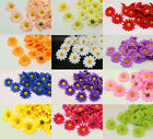 New 12 style 4x4cm Gerbera Daisy Heads Artificial Silk Flower for Wedding party