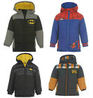 JCB Batman Spider Man Scooby Doo Boys Hooded Winter Coat Jacket Age 3 4 5 6 7 8
