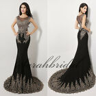 Gorgeous Black Mermaid Mother of the Bride Dresses Evening Formal Prom Gowns