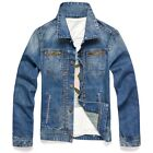 BN143 New Men's Classic Vintage Wash Motorcycle Jeans Casual Short Denim Jackets