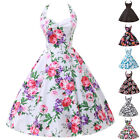 Clearance~ Floral Rockabilly Vintage Swing Prom Housewife 50s Retro Pin Up Dress