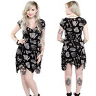 Sourpuss Anatomy See Through Me Dress Ladies Goth Pinup Girl Punk Goth