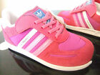 BABY / TODDLER GIRLS ADIDAS LA TRAINER CF I VELCRO STRAP TRAINERS UK SIZE 9.5