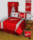 Detroit Red Wings Comforter Bedskirt Sham Pillowcase Valance Twin to King