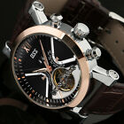 New Vintage Wrist Watch Army Gold Men's Skeleton Automatic Mechanical Movement