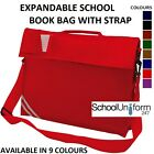 Boys Girls Childrens Kids Expandable School Book Bag with Strap - 6 Colours