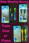 SOFT TIP WEANING FUN SPOON SET - BABY or TODDLER Healthy Eating by Amadeus - NEW