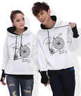4 Colors Fashion Lovers Couples Hoodie Sweater Coat warm Thick Women Men WL6080