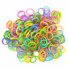 Multi Colour Bracelet Loom Bands/ Glow, Neon, Tie Dye  + Hook Tool + Clips