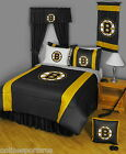 Boston Bruins Bed in a Bag with Valance & Curtains Twin to King