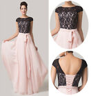 Sexy Lace Chiffon Splicing Long Formal Evening Prom Ballgown WEDDING Party Dress