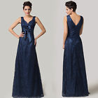 Formal Long Ball Gown Party Prom Bridesmaid Evening Dresses Double V Sexy Strap