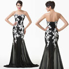 Luxury Appliques Ballgown Evening Prom Cocktail Wedding Party Quinceanera Dress