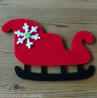 Felt Die Cuts - Lrg Sleigh -  Christmas - Crafts/Deco/Sewing - Applique - Cards