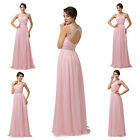 Stunning~Wedding Bridesmaid Formal Beaded Evening Gown Party Prom Long Dress NEW