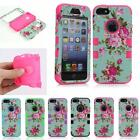 Flowers Hybrid Impact Shockproof Rubber Silicone Hard Case Cover For iPhone 6