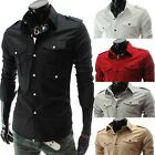 Mens Fashion Designer Stylish Luxury Slim Fit Casual Dress Shirts C5017
